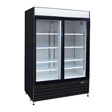 kool it kgf 48 two door glass freezer merchandiser
