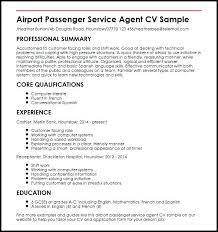 Airport Service Officer Resume Customer Passenger Agent Sample