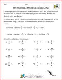 Convert Fractions to Decimalconvert fractions to decimal