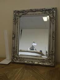 small vintage silver wall mirror shabby chic bathroom bedroom furniture