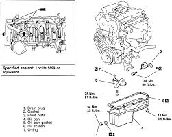 repair guides engine mechanical components oil pan 1 exploded view of the oil pan and related components 1999 2 0l non turbo engine