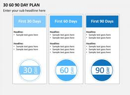 30 60 90 Day Plan Template Powerpoint Sales Action Format Sample Uk