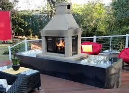 prefab outdoor fireplace design