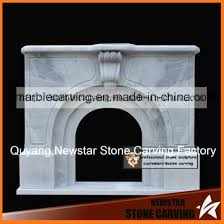 simple marble arched fireplace mantel nsb050
