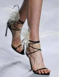 Summer New <b>Women</b> Fashion <b>Black Feather</b> Back Lace Up Stiletto ...