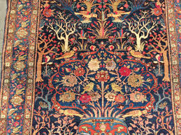 fine bakthiary tree of life rug displaying the garden of eden very elegant drawing