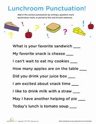 Punctuation In The Lunch Room Creative Writing Class