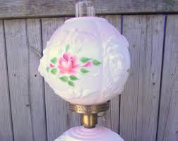 lighting globes glass. Lion Head Roses Milk Glass Globe Lamp Hurricane Gone With The Wind GWTW Antique Victorian Lighting Globes T