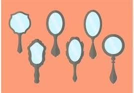 hand mirror vector. vintage hand mirror vectors vector vecteezy