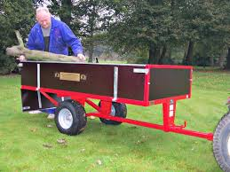two wheel timber 15cwt tipping trailer