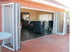 exterior folding glass patio doors add more light to your house