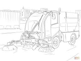 Street sweeper coloring page