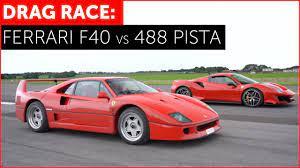 Drag Race Ferrari 488 Pista Vs Ferrari F40 Real World W Tiff Needell Youtube