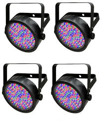 Chauvet Par 56 4 Light System 4 Chauvet Slimpar 56 Led Dmx Slim Par Can Stage Pro Dj Rgb Lighting Effects