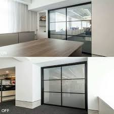 privacy glass panel for front door is kind of laminated glass with crystal pdlc sandwiched between two glass panels