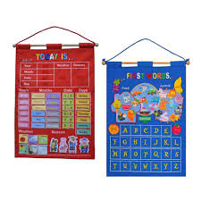 Fabric Days Of The Week Chart 148pcs Set Date Month Holiday Calendar Time Wall Solar Term