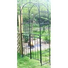 home depot garden archway arch trellis design iron wrought panels canada