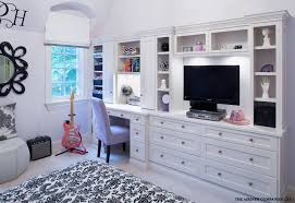 wall unit with desk bedroom traditional