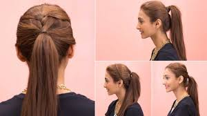 Quick Cute Ponytail Hairstyles Quick And Easy Ponytail Hairstyles For Medium Hair Fusion Hair