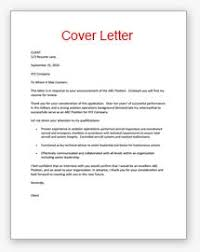 Sample Cover Letter For