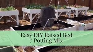 quick tip easy diy raised bed soil mix mel s mix from square foot gardening