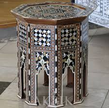 mediterranean furniture style. Enchanting Moroccan Style Side Table Design At Dining Room Decoration Mediterranean Levantine Syrian Furniture Inlaid With Mother Of