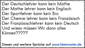 Der Deutschlehrer Kann Kein Matheder Mathe Lehrer Kann Kein Englisch