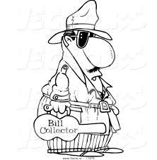 Vector of a Cartoon Bill Collector Carrying a Violin Case ...