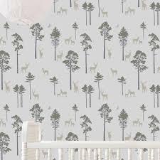 kid wallpaper usa mylar. Deer Forest Stencil Woodland Nursery Stencils Kid Wallpaper Usa Mylar
