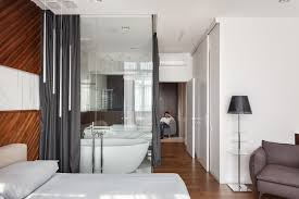 alexander angelovskiy interior glass wall in small modern apartment