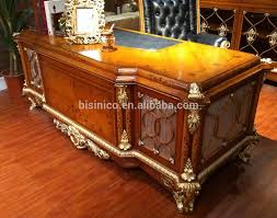 office writing table. french baroque style luxury executive office desk european classic wood carving writing table retro