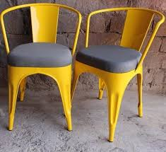 vintage metal furniture. ND ART EXPORT Optional Industrial Vintage Metal Chair With Fabric Cushion  Powder Coated Restaurant Cafe Hotel Vintage Metal Furniture R