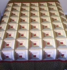 Log Cabin Quilt Patterns Awesome KingQueen Size Log Cabin Quilt Heavily Hand Quilted Was Displayed