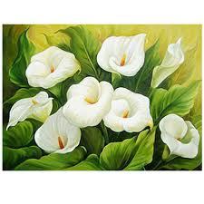 meouput 5d diy diamond painting cross stitch kits calla lily flower diamond mosaic pattern diamond embroidery