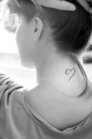 Girls Neck Heart Tattoo Tattoomagz Tattoo Designs Ink Works
