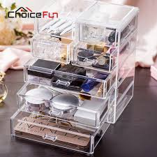 CHOICE FUN Top Selling Acrylic Makeup Storage Box Clear Cosmetic Chest  Sundries Organizer Large Makeup Drawer