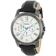 """8 10 invicta men s 10707 genuine leather speedway chronograph 8 75 10 fossil men s fs4921 grant chronograph leather watch overstockâ""""¢ shopping big"""