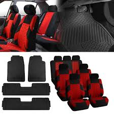 3row 7 seats suv red seat covers with black floor mats for suv van sedan truck