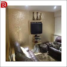 20 meters gold glitter fabric wallpaper