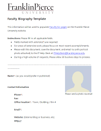 45 Free Biography Templates Examples Personal