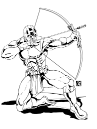 Small Picture Hawkeye coloring pages Free Printable Hawkeye coloring pages