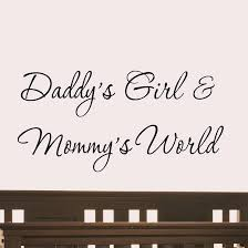 home wall quotes wall decals for nursery daddy s girl and mommy s world nursery wall decal quote vinyl wall art  on wall decal quotes for nursery with daddy s girl and mommy s world wall decal nursery quote vinyl wall