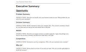 an example of a business plan template
