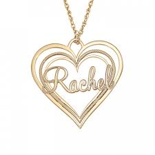 alison and ivy triple heart name pendant 30x32mm