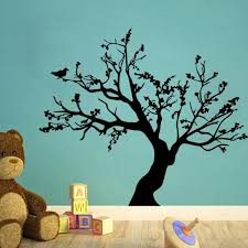Small Picture Black Tree Wall Decal For Nursery Removable Pvc Tree Wall Stickers