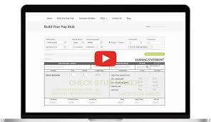 Pay Stubs Maker Check Stub Maker Generate Your Pay Check Stubs Easily
