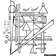Small Picture Wassily Kandinsky Compositions coloring page A Printables