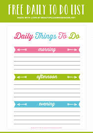 Daily To Do List Printable For Free Beautiful Dawn Designs