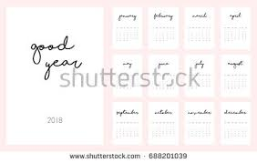 monthly calendar 2018 template vector template of printable monthly calendar 2018 download free