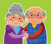 Image result for old couple eating clipart